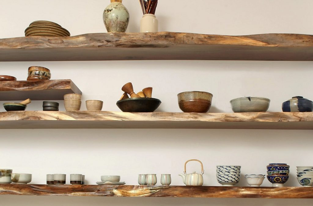 Kitchen Live edge Shelving